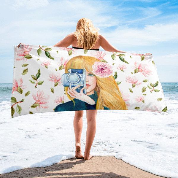 Floral Photographer Towel