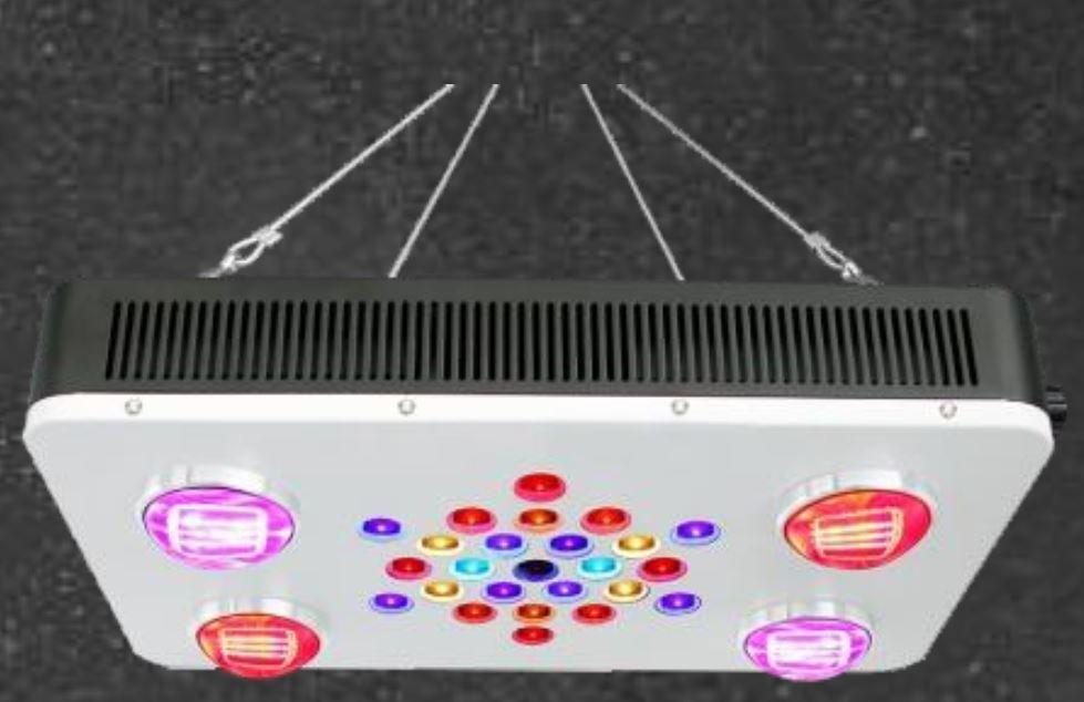 4 x 100 Watt (chip) combo, 25 x 5 Watt (chip) LED Grow Light