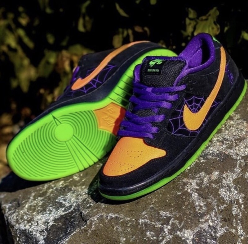 NIKE SB DUNK LOW PRO BLACK/TOTAL ORANGE-COURT PURPLE-VOLT
