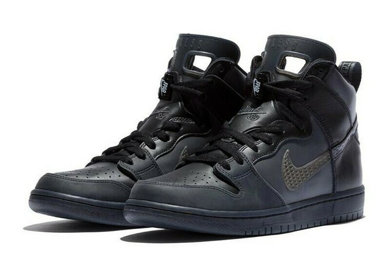 NIKE SB DUNK HIGH PRO PRM QS BLACK/DARK GREY-BLACK