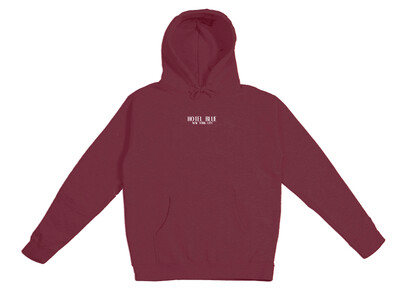 EMBROIDERED LOGO HOODY MAROON