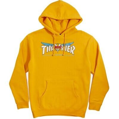 THRASHER X VENTURE HOODIE - GOLD