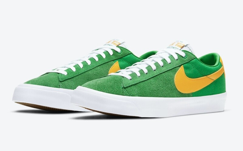Nike SB Blazer Low GT QS Lucky Green/Black-White-University Gold