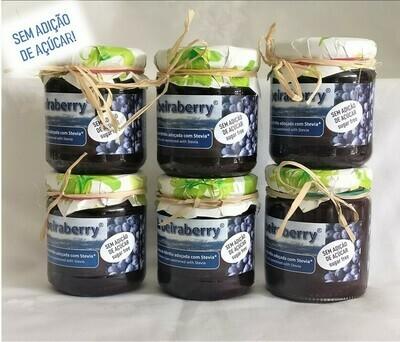 Pack Compota de Mirtilo Beiraberry adoçada com Stevia (6 unidades - 250g)