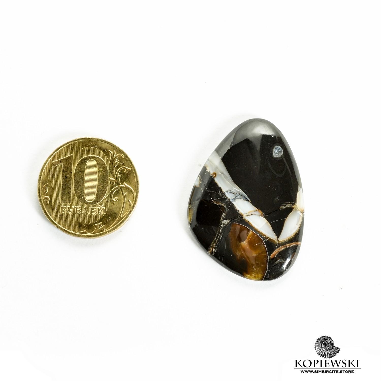 Кабошон танатоценоз 30*25*3 мм