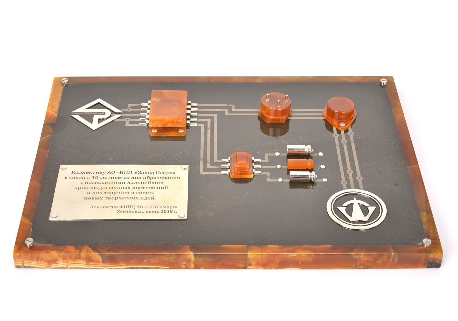 Microcircuit made of stone