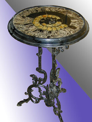 Stone-topped table