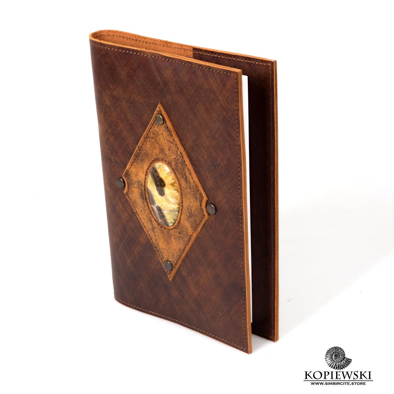 Diary A5 with stone Simbirtсite