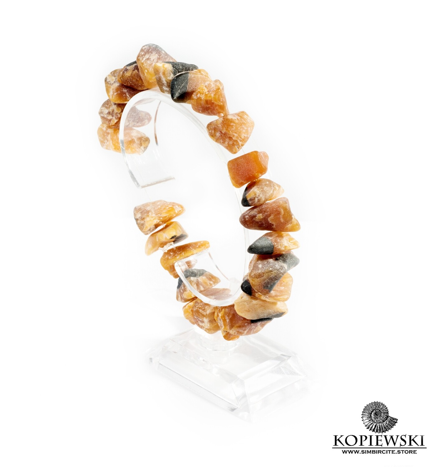 Bracelet made of raw Simbircite in the assortment