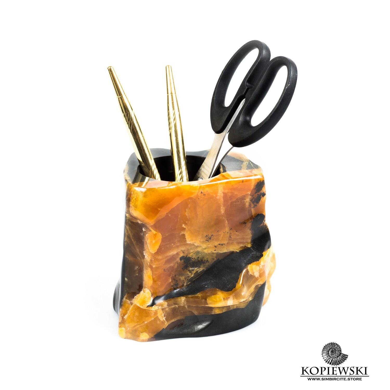 Carved pencil case Simbircite