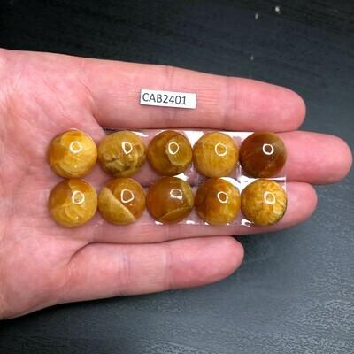 Simbircite Calibrated Cabochons Ø 14 mm (10 pieces)
