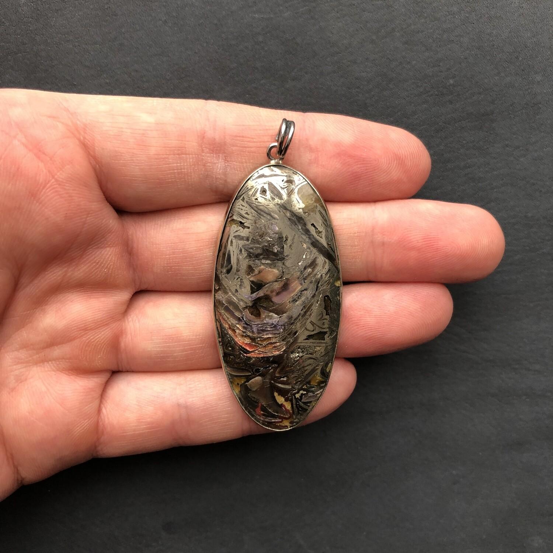 Pendant with Ammonite Simbircite