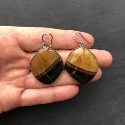 Earrings with stone Simbircite