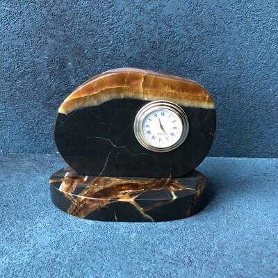 Clock slice stone Simbircite