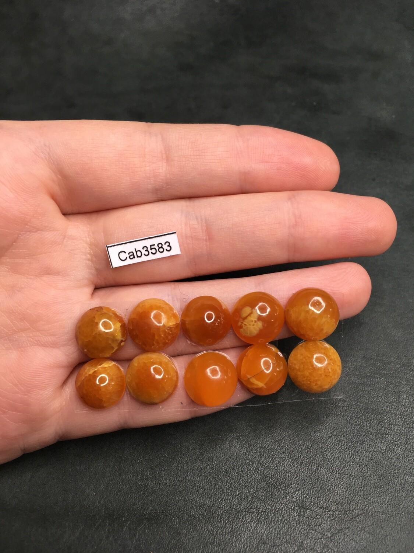 Симбирцит круглый кабошон Ø 12 мм (10 штук)