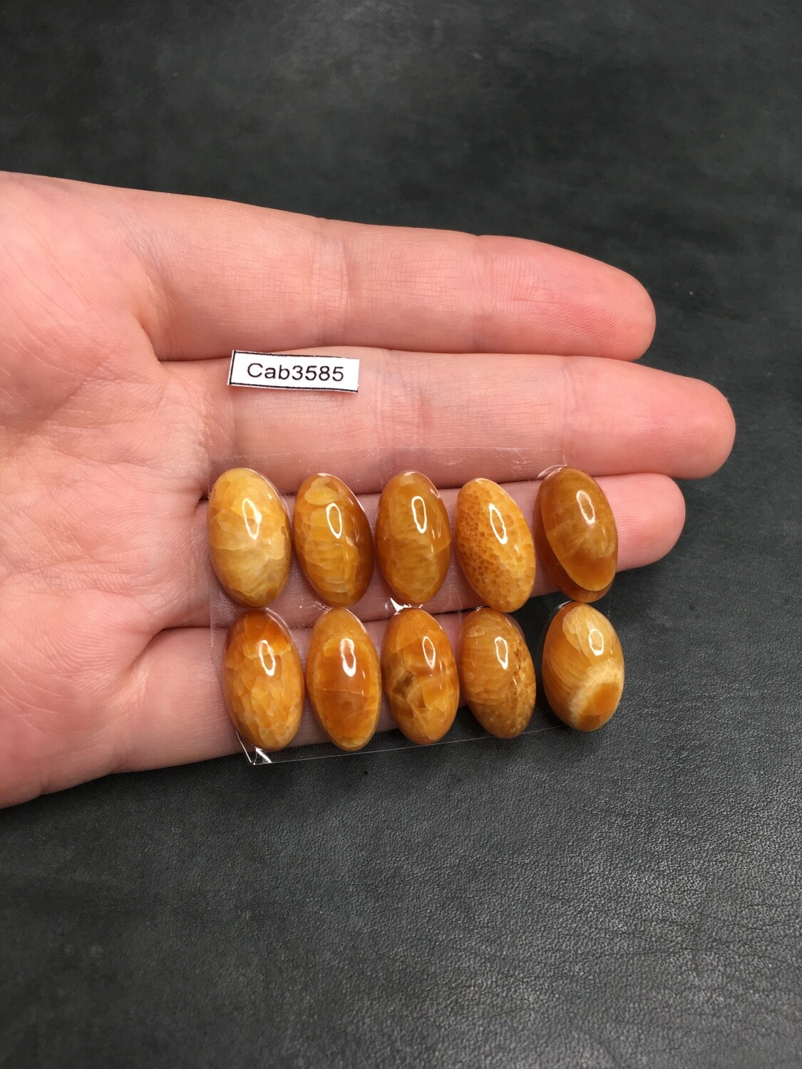 Simbircite Calibrated Cabochons 18*10 mm (10 pieces)