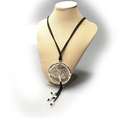 Metal pendant on a cord