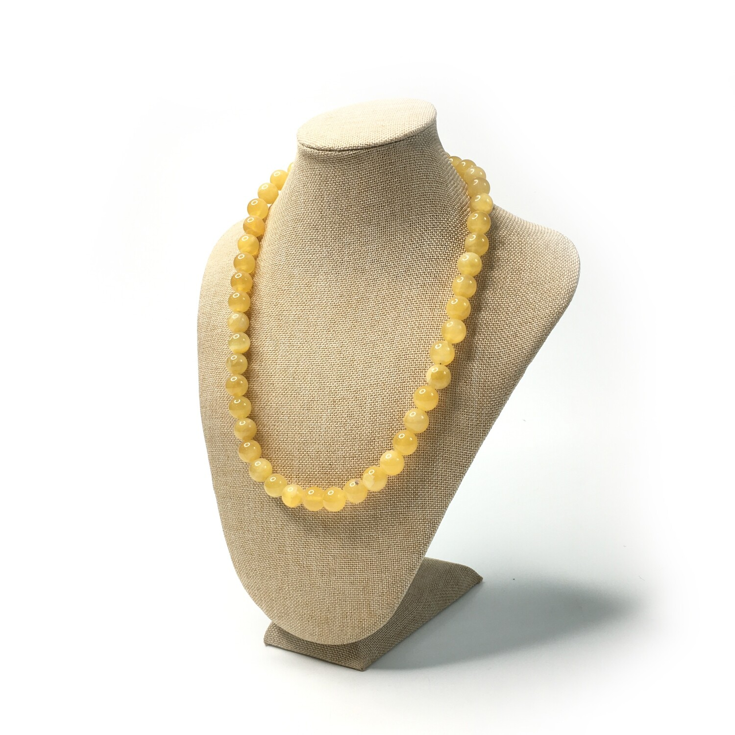 Simbircite stone necklace (lemon)  Ø 11 mm