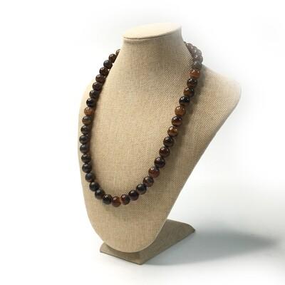 Simbircite stone necklace (dark) Ø 11 mm