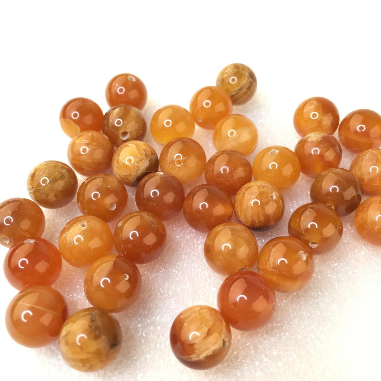 Beads Simbircite Yellow Ø 10 mm
