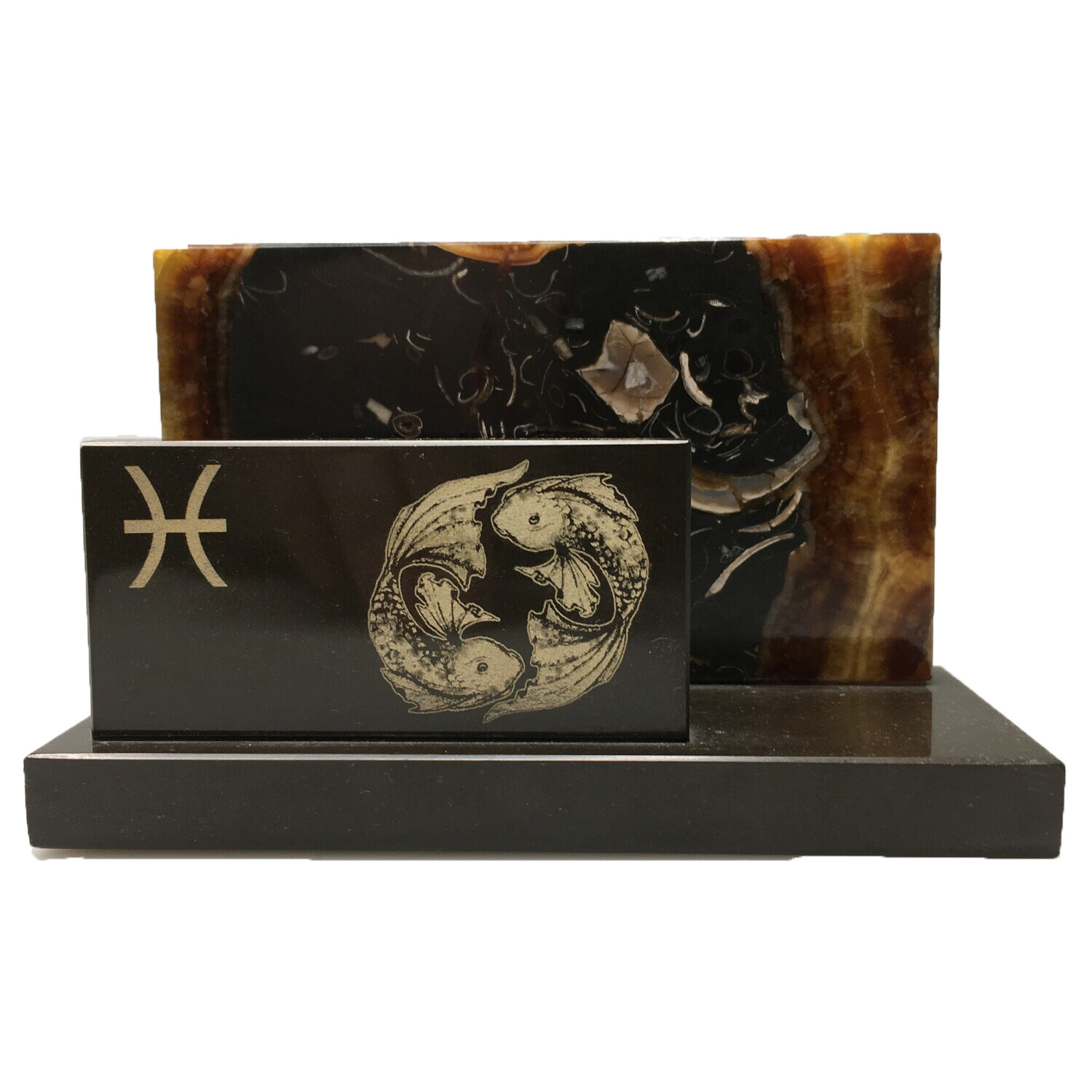 "Desktop business card holder ""The signs of the Zodiac"" Pisces"