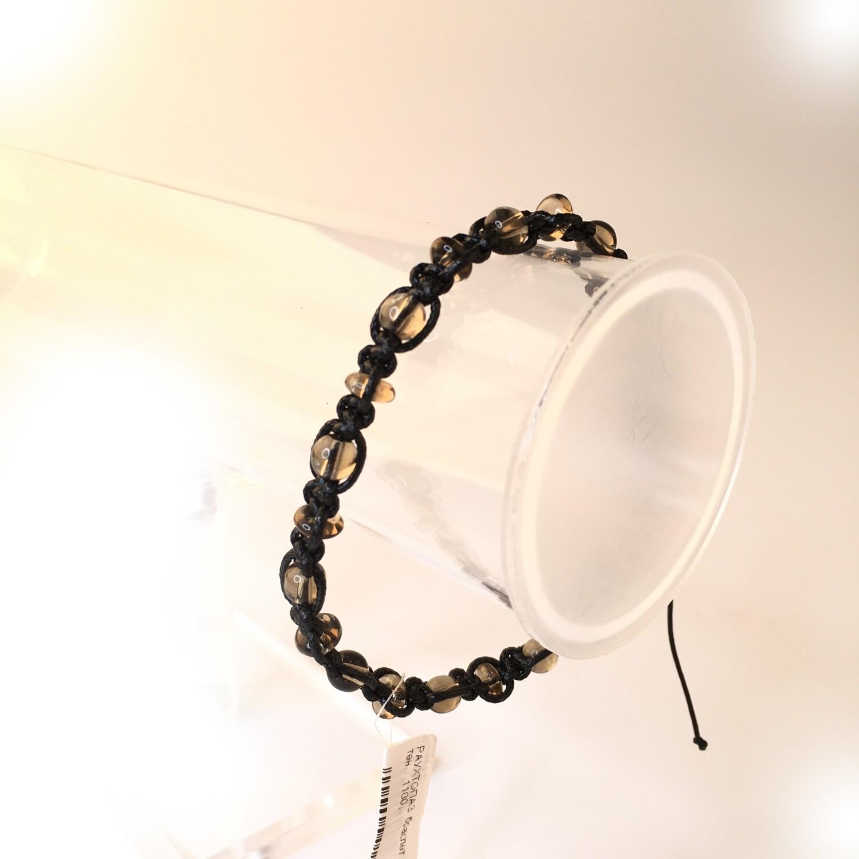 Braided bracelet with Rauchtopaz