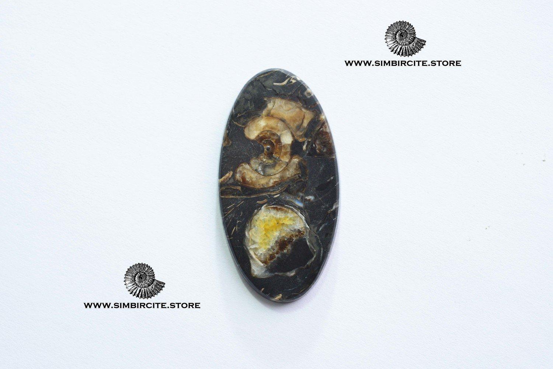 Кабошон танатоценоз 43*23*3 мм