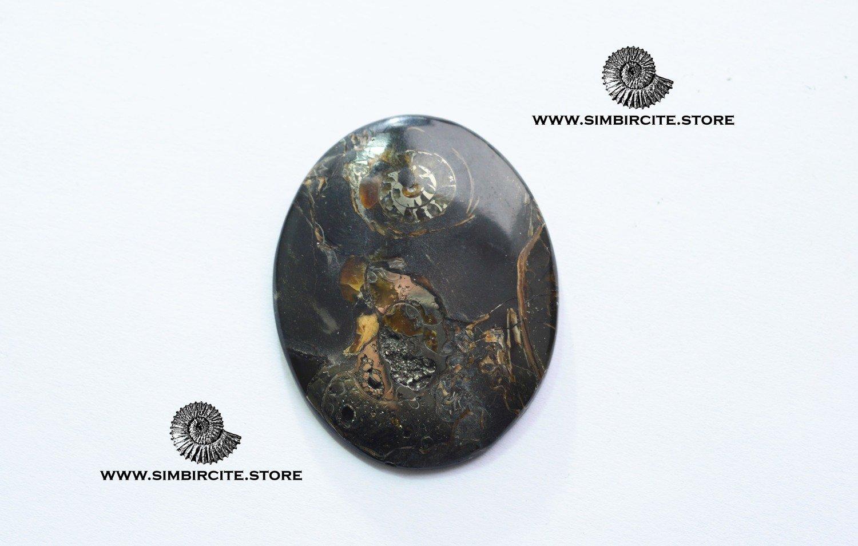 Кабошон танатоценоз 40*32*3 мм