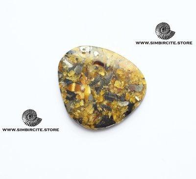 Мозаичный Симбирцит (Владелит) 41*35*3 мм