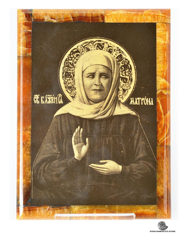 Симбирцитовая икона Святая Матрона Московская