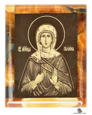 Симбирцитовая икона Святая мученица Галина Коринфская
