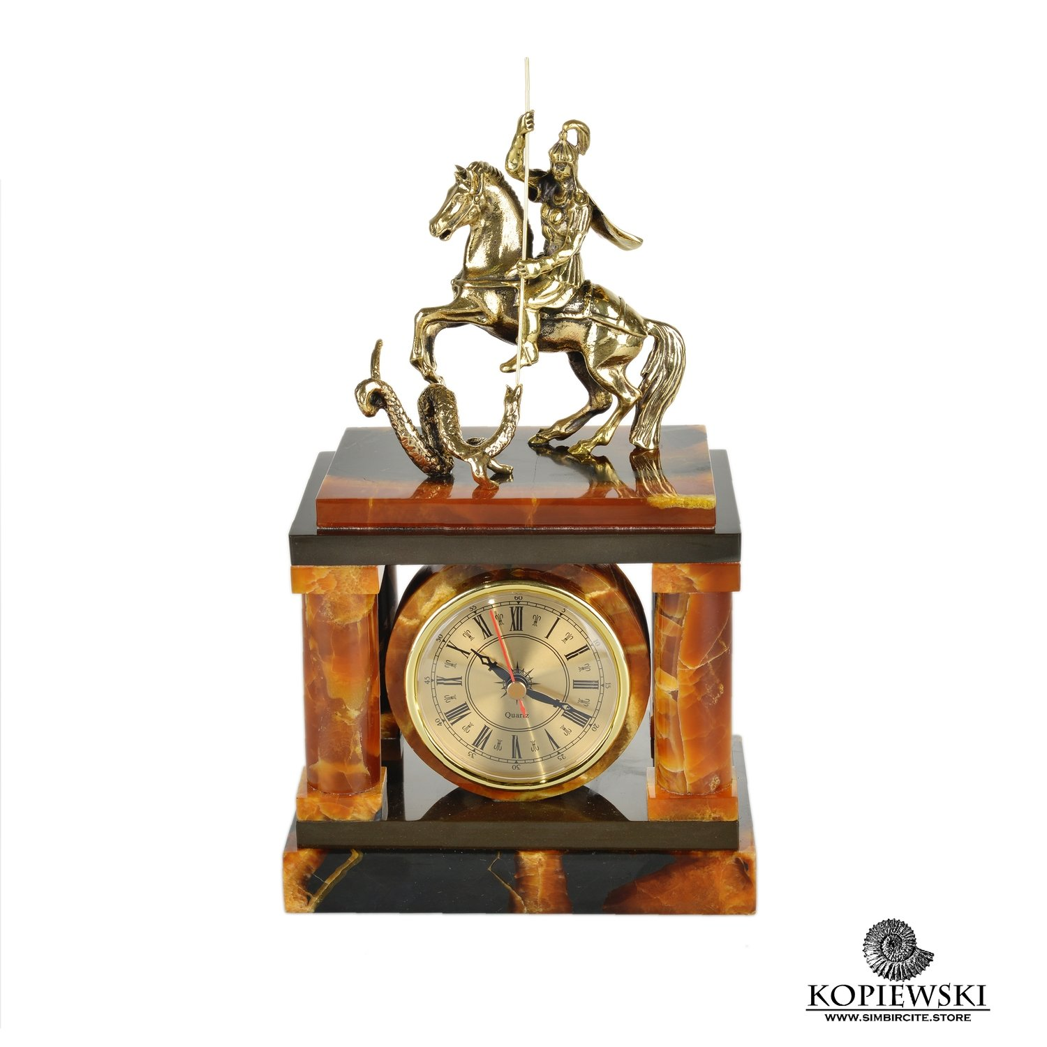 "Fireplace clock ""George the Victorious"" from Simbirtsit"