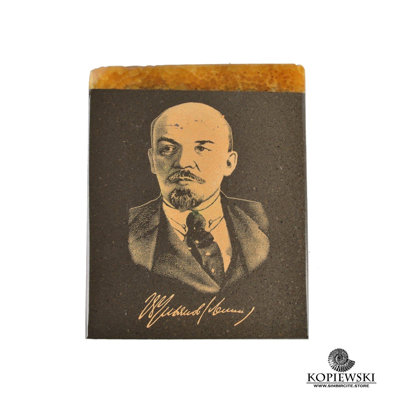 Timbercity magnet, engraved by V. I. Lenin