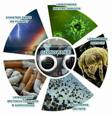 Odgrzybianie Ozonowanie(dezynfekcja-odkażanie)