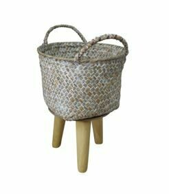 WOVAN PLANTER SMALL - WASH