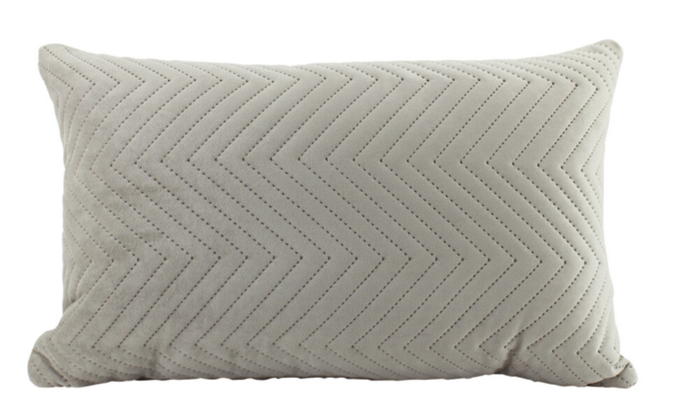 CUSHION - VELVET QUILTED LATTE COLOUR