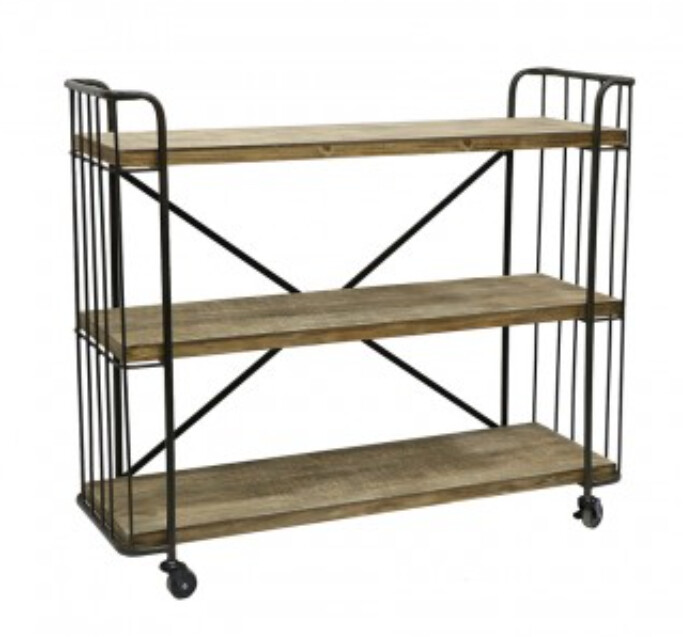 INDUSTRIAL 3 SHELF TROLLEY