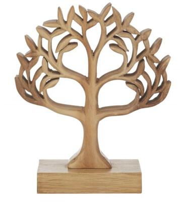 TREE OF LIFE WOOD SCULPTURE 20cm