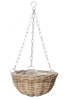 RATTAN HANGING BOWL WITH LINER