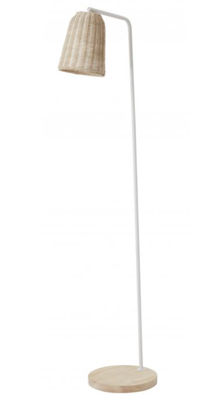 LIGHTING - RATTAN FLOOR LAMP