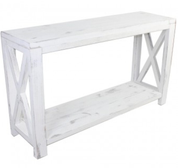 FURNITURE - FARMHOUSE CROSS-HATCH CONSOLE