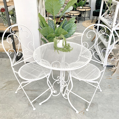 FURNITURE - 3 PIECE OUTDOOR SETTING WHITE