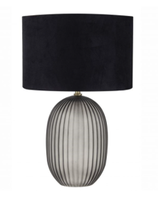 LIGHTING - GREY TINTED GLASS TABLE LAMP