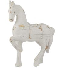 WHITEWASH HORSE SCULPTURE