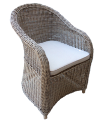 FURNITURE - COVENTRY WICKER CHAIR GREY
