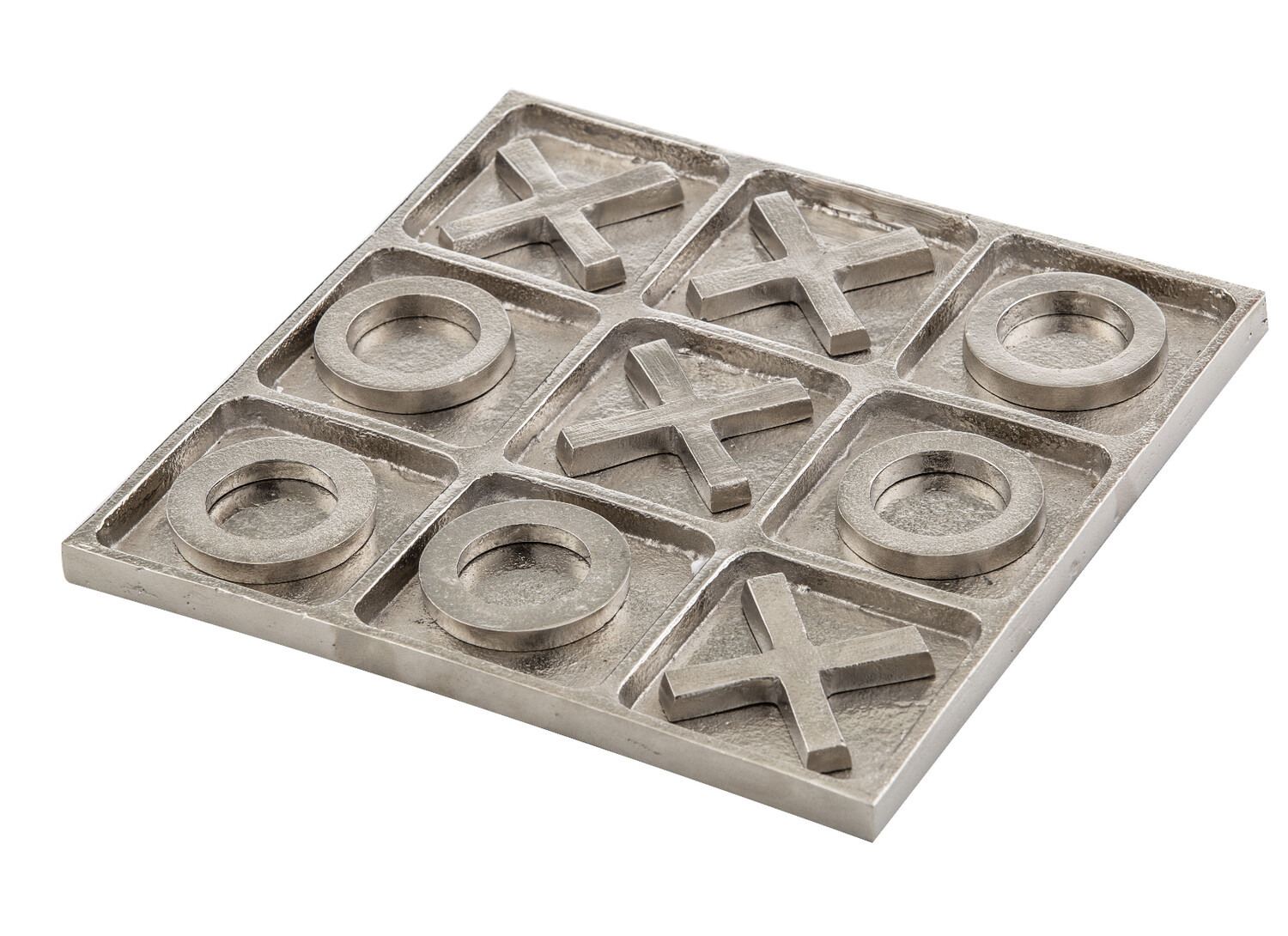NOUGHTS & CROSSES GAME - METAL