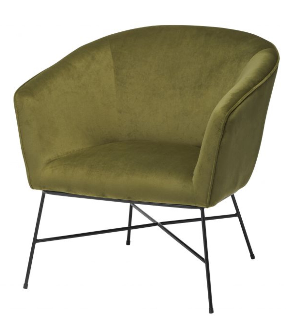 VELVET OCCASIONAL CHAIR - SMOKE GREEN