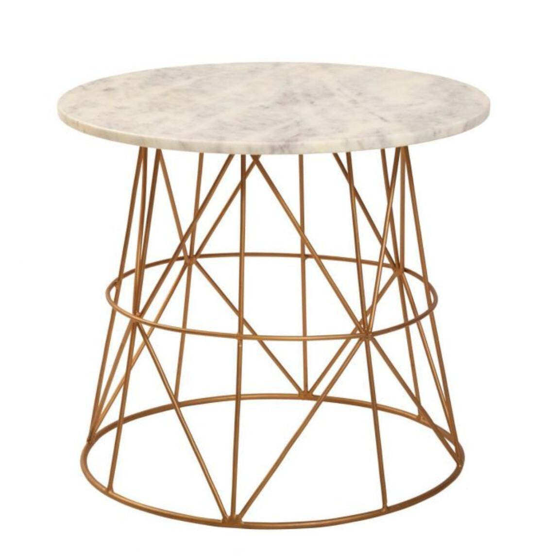 FURNITURE - MARBLE ACCENT TABLE