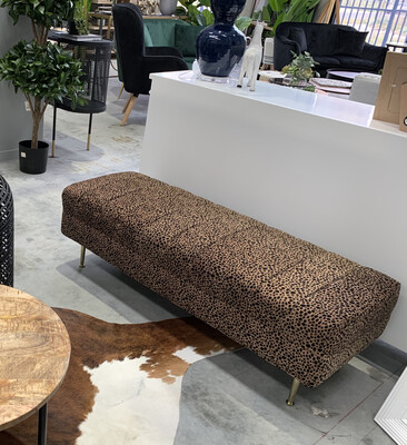 FURNITURE - LEOPARD BENCH SEAT