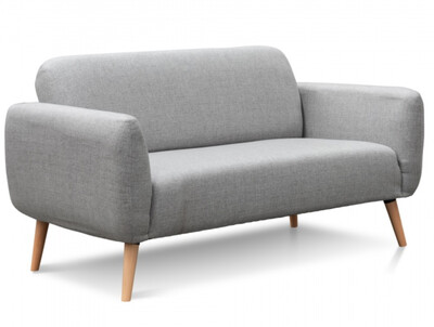 FURNITURE - FABRIC SOFA 2 SEATER GREY